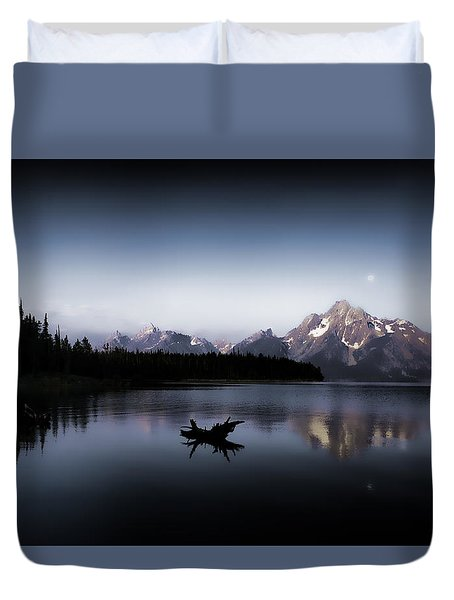 Morning On Jackson Lake Duvet Cover