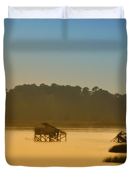 Morning On The Bay Duvet Cover by Bill Cannon