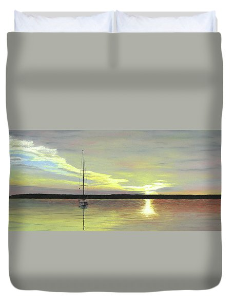 Morning On The Bay Duvet Cover