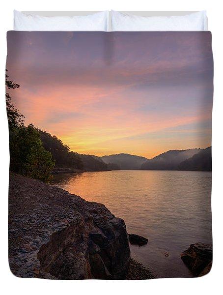 Morning On The Bay Duvet Cover