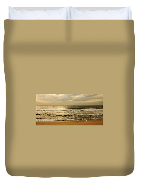 Morning On The Beach - Jersey Shore Duvet Cover