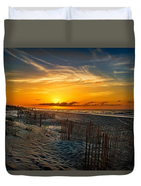 Morning On The Bogue Banks Duvet Cover