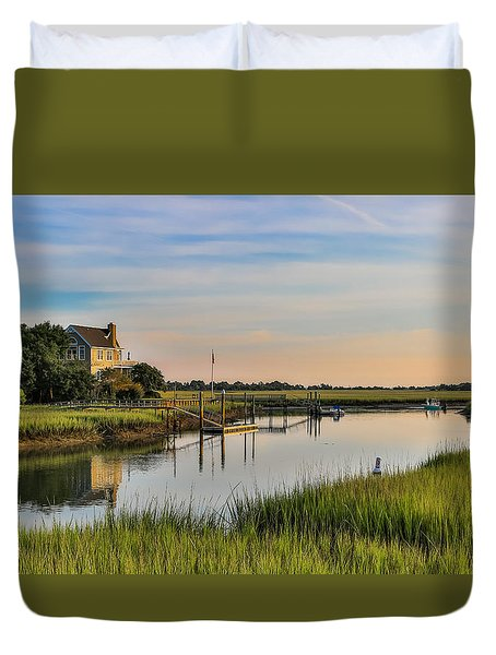 Morning On The Creek - Wild Dunes Duvet Cover