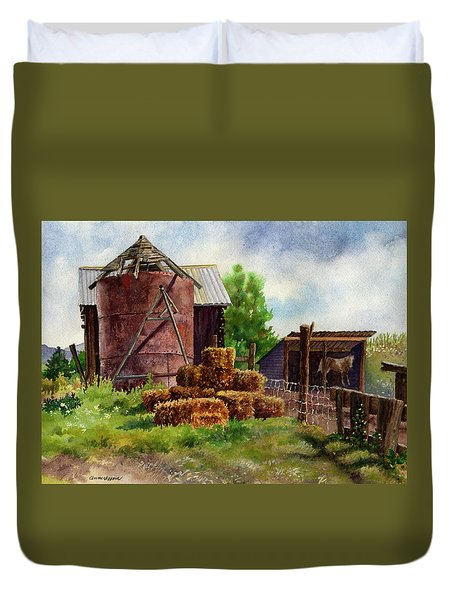 Morning On The Farm Duvet Cover
