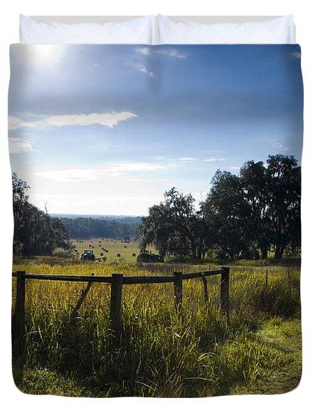 Morning On The Farm Duvet Cover