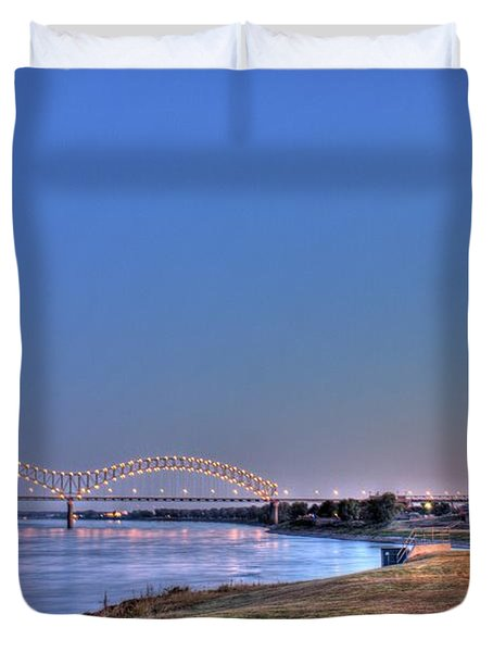 Morning On The Mississippi Duvet Cover