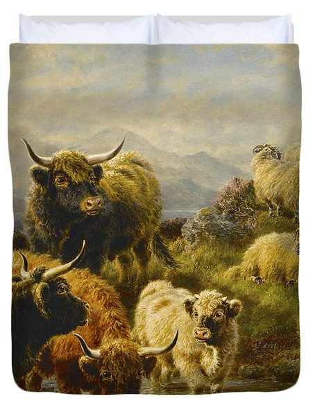 Morning On The Mountains Duvet Cover