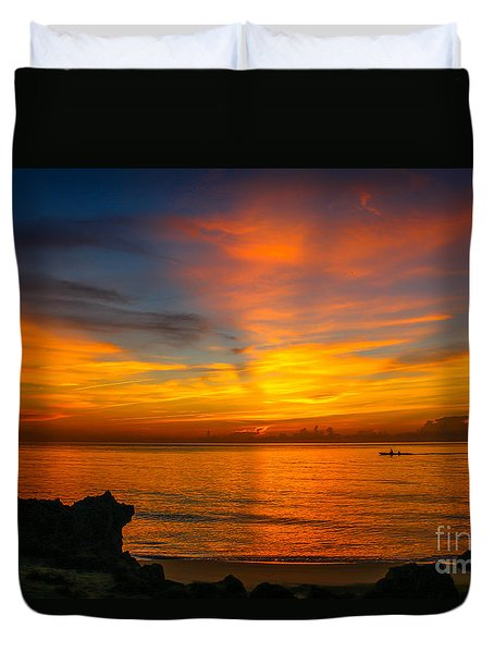 Morning On The Water Duvet Cover
