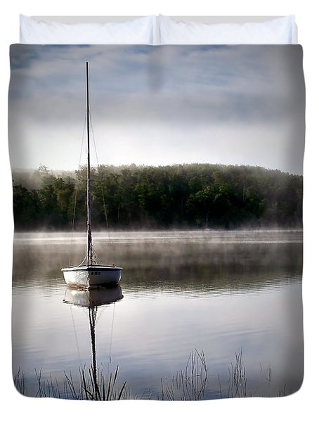 Morning On White Sand Lake Duvet Cover by Lauren Radke
