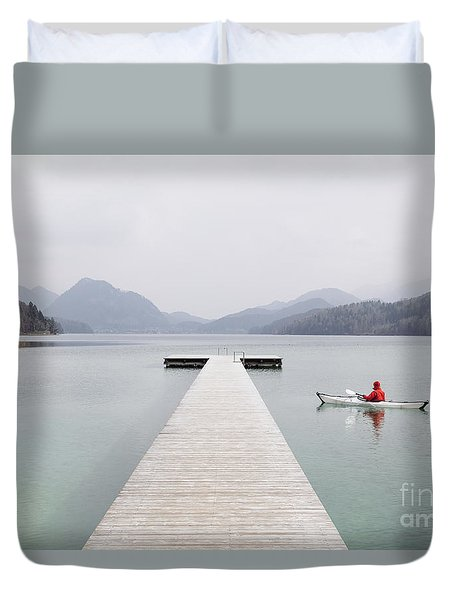 Morning Patrol Duvet Cover by JR Photography