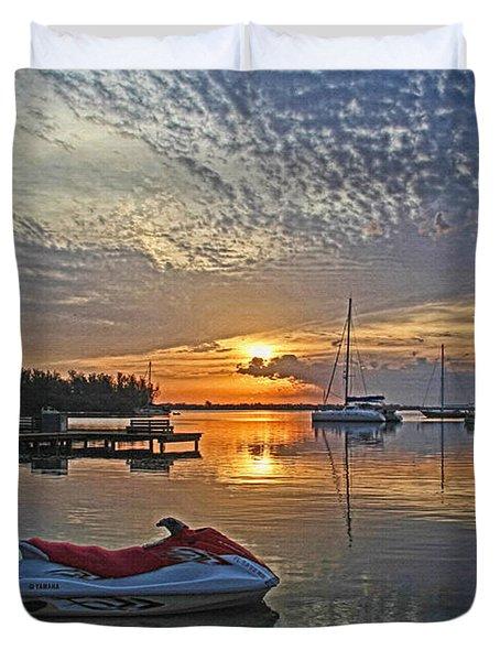 Morning Peace - Florida Sunrise Duvet Cover