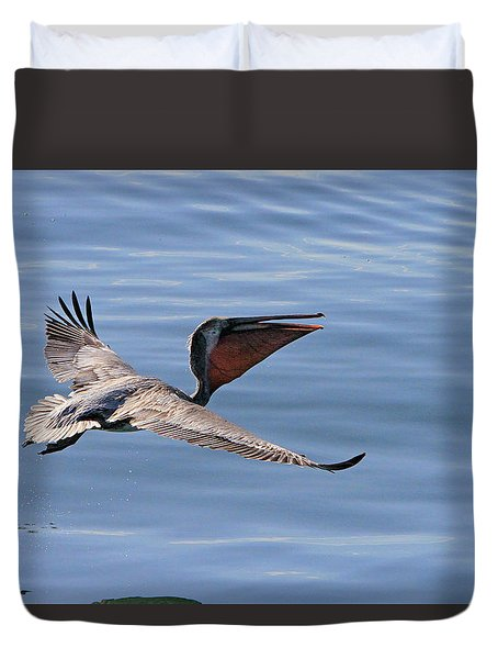 Morning Pelican Duvet Cover