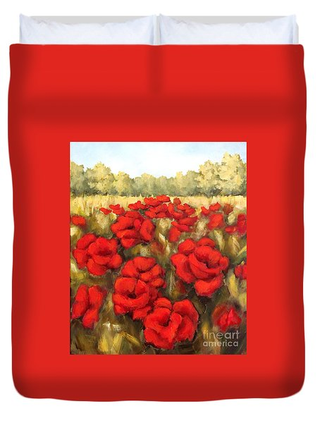 Morning Poppies Duvet Cover