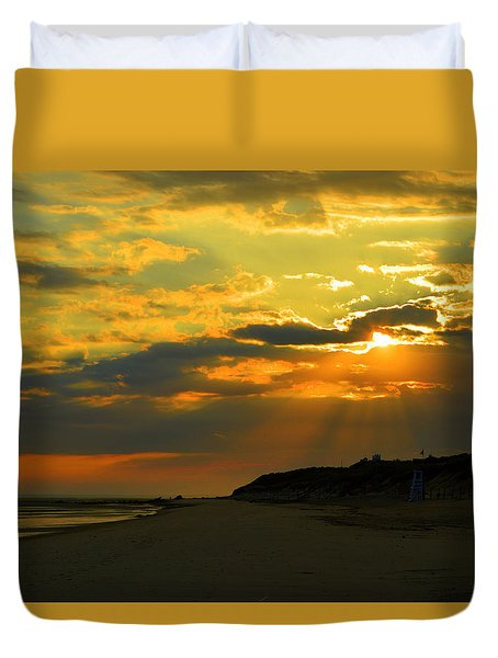 Morning Rays Over Cape Cod Duvet Cover