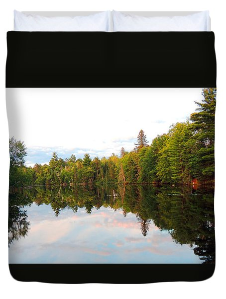 Morning Reflection Duvet Cover by Teresa Schomig