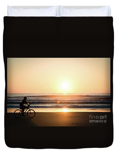 Morning Ride Duvet Cover