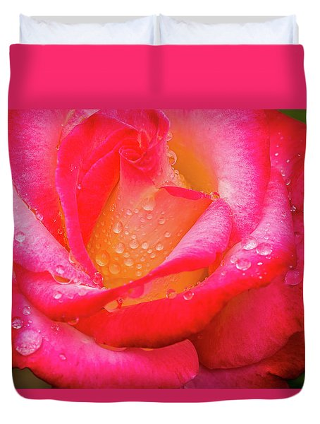 Morning Rose For You Duvet Cover by Ken Stanback