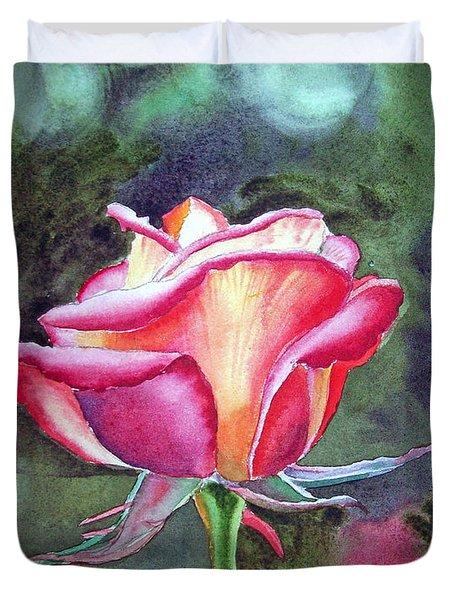 Morning Rose Duvet Cover by Irina Sztukowski