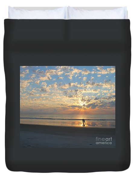 Morning Run Duvet Cover