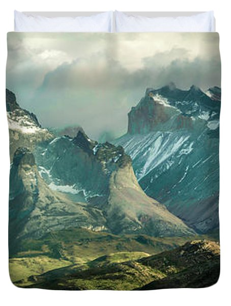 Morning Shadows Duvet Cover by Andrew Matwijec