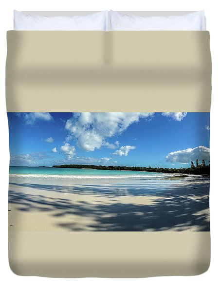 Morning Shadows Ile Des Pins Duvet Cover