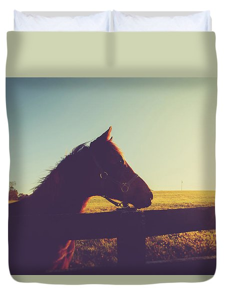 Duvet Cover featuring the photograph Morning  by Shane Holsclaw