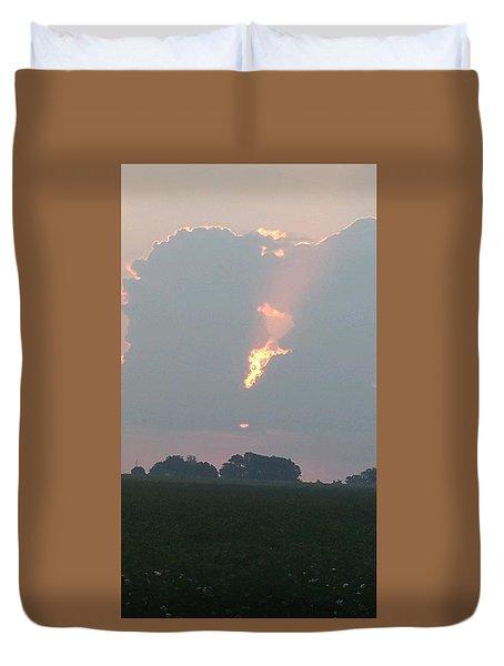 Morning Sky On Fire Duvet Cover