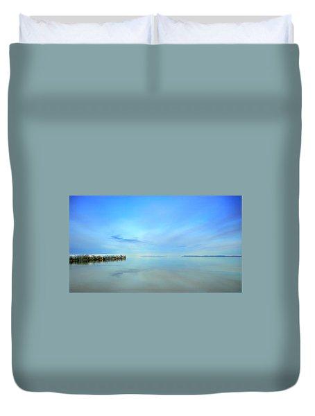 Morning Sky Reflections Duvet Cover