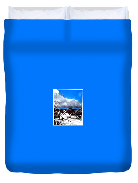 Morning Snow Ministry Duvet Cover