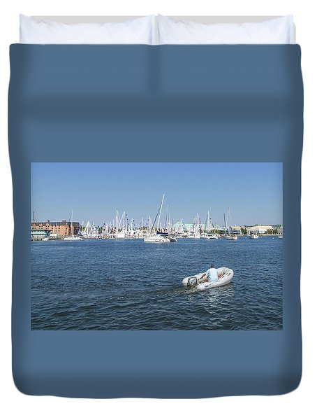 Duvet Cover featuring the photograph Solitude On The Creek by Charles Kraus