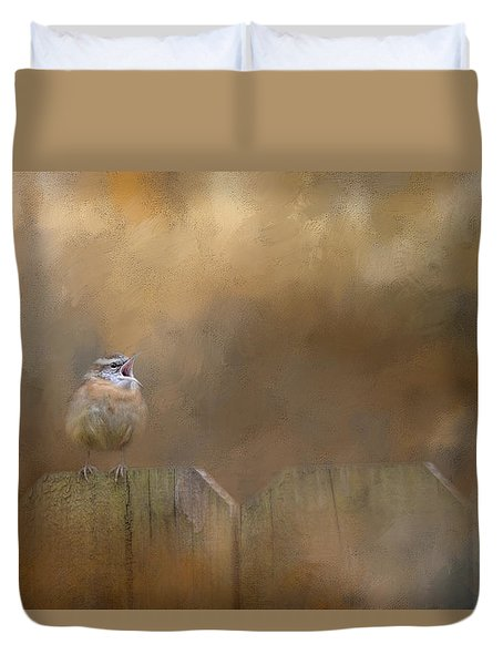 Morning Song Duvet Cover by Jai Johnson
