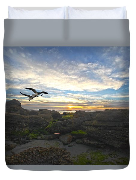 Morning Song Duvet Cover