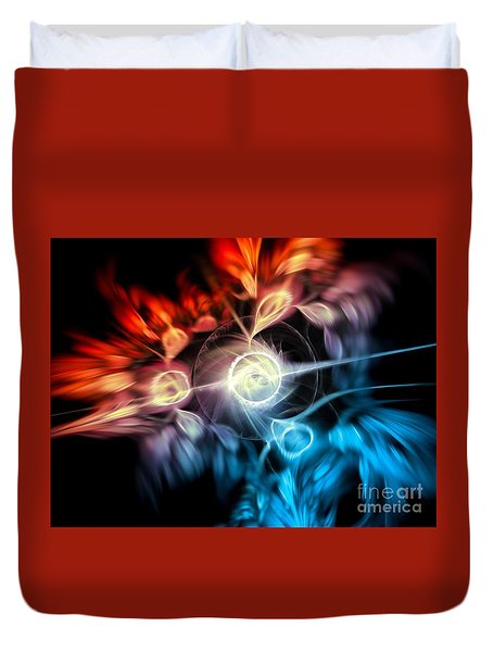 Duvet Cover featuring the digital art Morning Star by Michal Dunaj