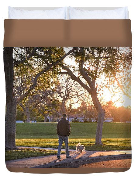 Morning Stroll Duvet Cover