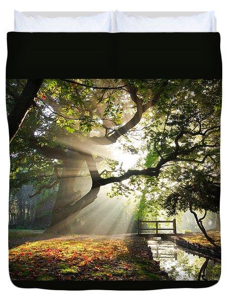 Morning Sunrise In Hampden Park Duvet Cover