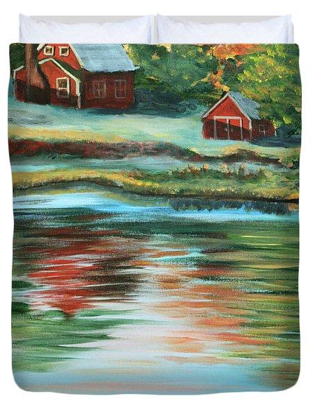 Morning Swim Duvet Cover by Lorraine Vatcher
