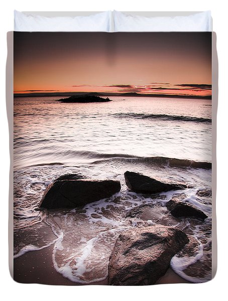 Duvet Cover featuring the photograph Morning Tide by Jorgo Photography - Wall Art Gallery