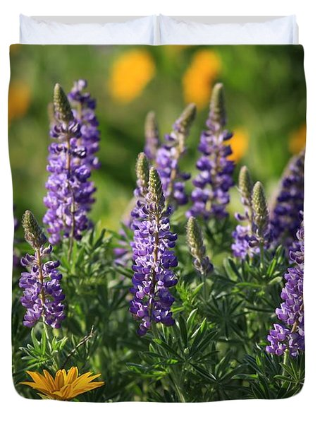 Morning Time Lupine Duvet Cover