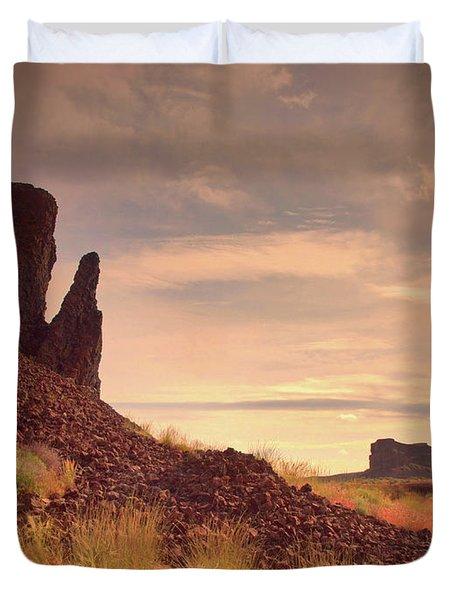 Morning Trek Duvet Cover by Tara Turner
