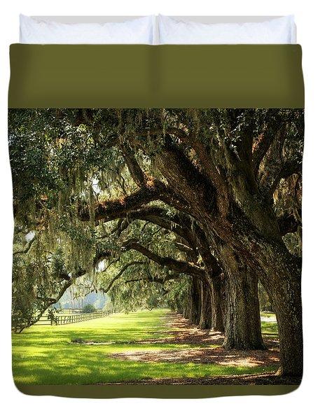 Morning Under The Mossy Oaks Duvet Cover