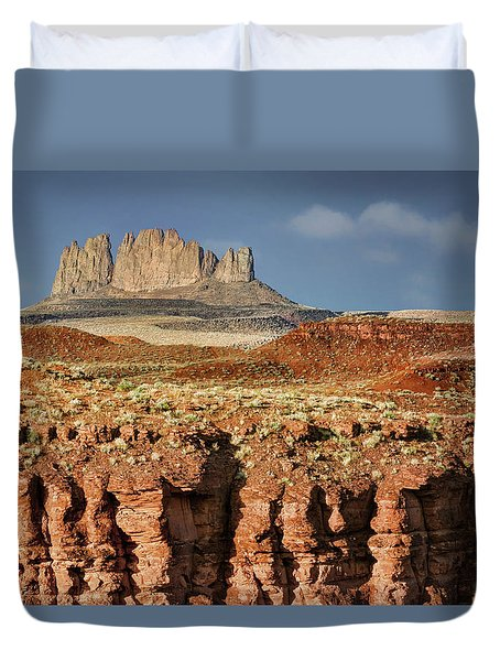 Duvet Cover featuring the photograph Morning View by Nikolyn McDonald