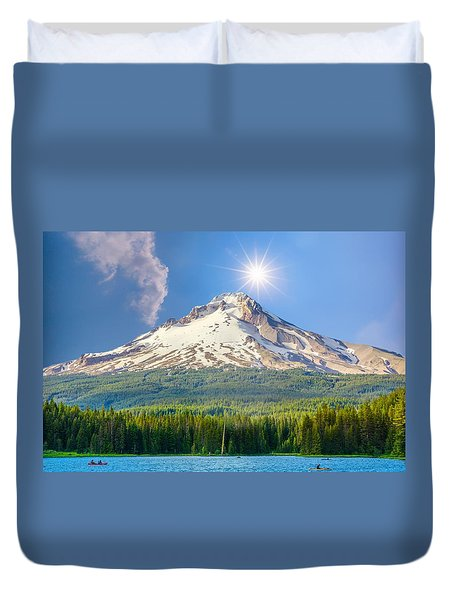 Morning View Of The Mt Hood Duvet Cover
