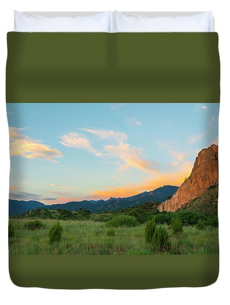 Duvet Cover featuring the photograph Morning View by Tim Reaves