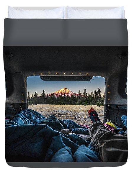 Morning Views Duvet Cover by Alpha Wanderlust