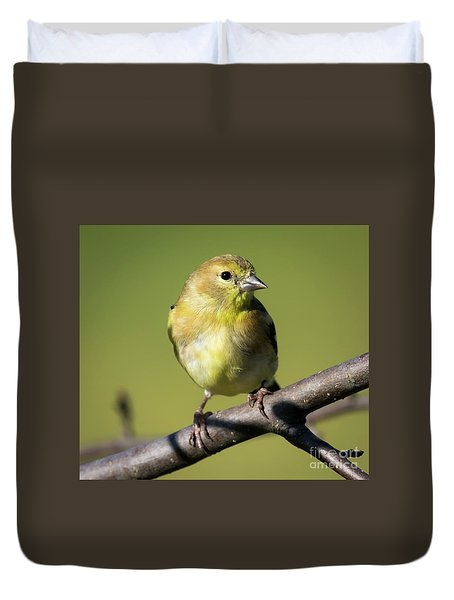 Duvet Cover featuring the photograph Morning Visitor  by Ricky L Jones