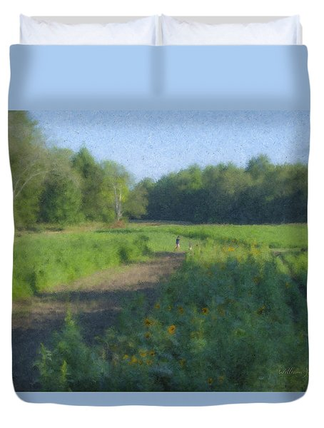 Morning Walk At Langwater Farm Duvet Cover