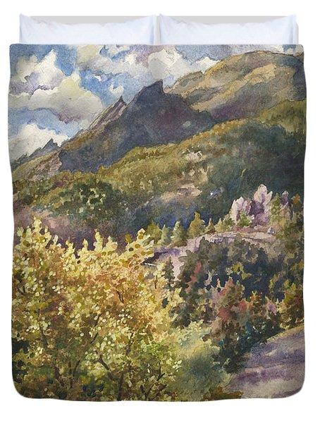 Morning Walk At Mount Sanitas Duvet Cover