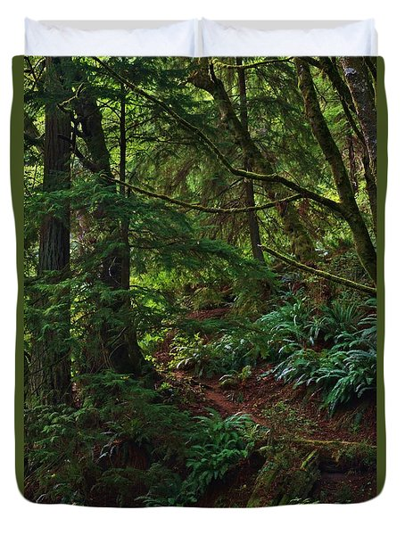 Morning Walk Duvet Cover by Craig Wood
