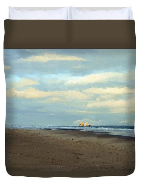 Morning Walk Duvet Cover