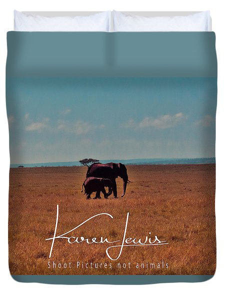 Duvet Cover featuring the photograph Morning Walk by Karen Lewis